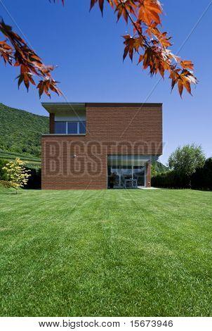 casa de tijolo moderno