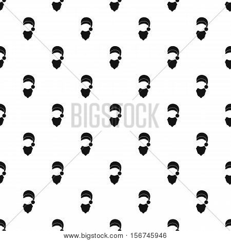 Santa hat and beard pattern. Simple illustration of Santa hat and beard vector pattern for web