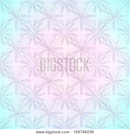 Seamless modern texture. Boho fashion style abstract backdrop, kaleidoscope montage with snowflakes. Background for sketchbook, notebook, card, Christmas, yuletide, Valentine's day, new year