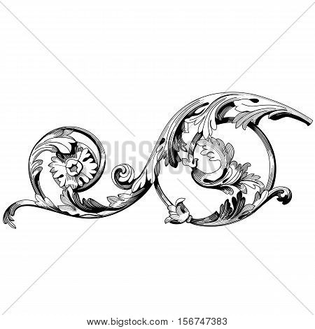 Vintage ornament, baroque ornament, corner ornament, retro ornament, pattern ornament, antique ornament, decorative ornament, filigree ornament,calligraphy. Vector.