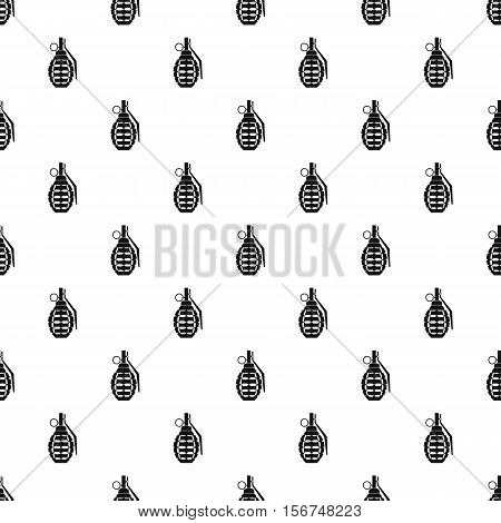 Hand grenade pattern. Simple illustration of hand grenade vector pattern for web