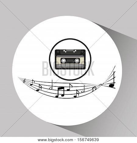 music cassette vintage background desgin vector illustration eps 10