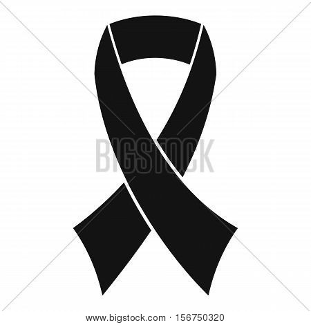 Breast cancer awareness ribbon icon. Simple illustration of breast cancer awareness ribbon vector icon for web design