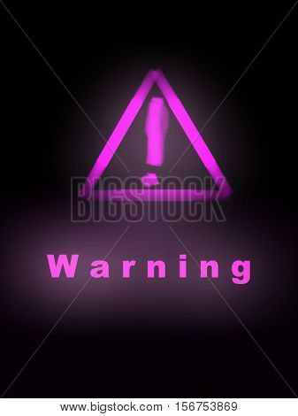 Triangle warning sign, Warning sign, Warning sign with light, Warning sign on black, Warning sign JPG image, Warning sign illustration.