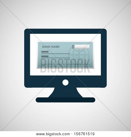 bank check template icon graphic vector illustration eps 10