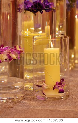 The Spa Candles And Flowers
