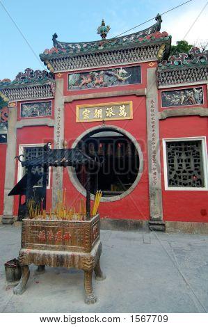Facade Of Temple Gate