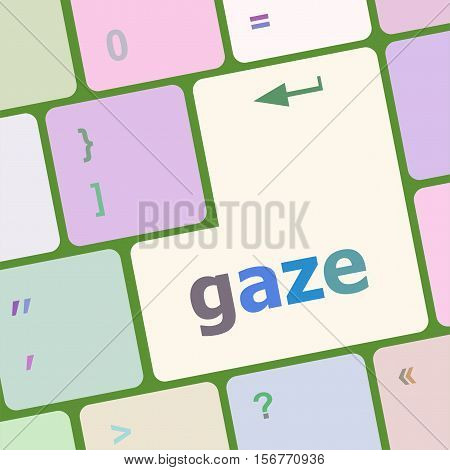 Gaze Button On Computer Pc Keyboard Key
