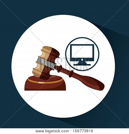 business finacial, judge gavel icon design vector illustration eps 10