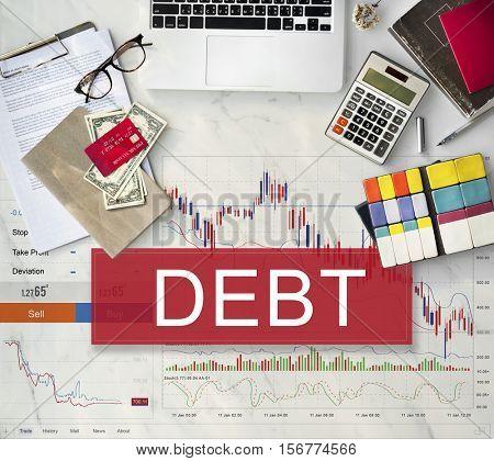 Debt Obligation Banking Finance Loan Money Concept