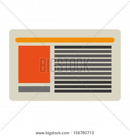 Newspaper icon. Paper news media article and communication theme. Isolated design. Vector illustration