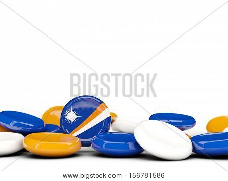 Flag Of Marshall Islands, Round Buttons