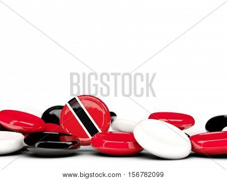 Flag Of Trinidad And Tobago, Round Buttons