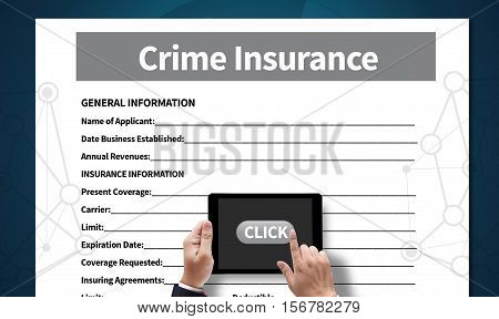 Crime Insurance Application Form Information Business adult, application, background, browse,