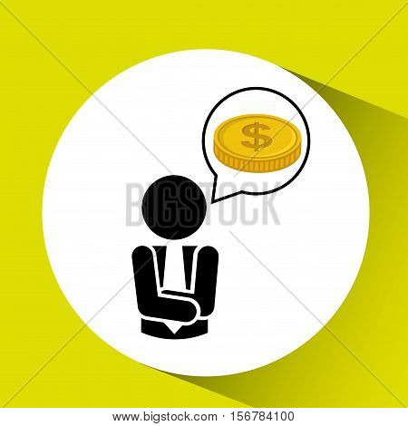 silhouette businessman concept with vector illustration eps 10