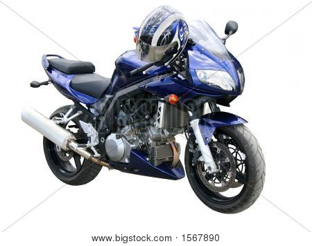 Dark Blue Motorcycle.