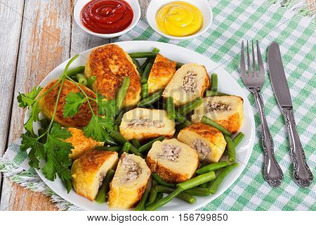 Delicious Mashed Potato Pancakes Stuffed With Ground Meat