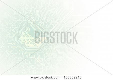 Technology Concept Microchip Background With Copy Space. Pcb Board Integrated Circuit Pc Parts Mothe