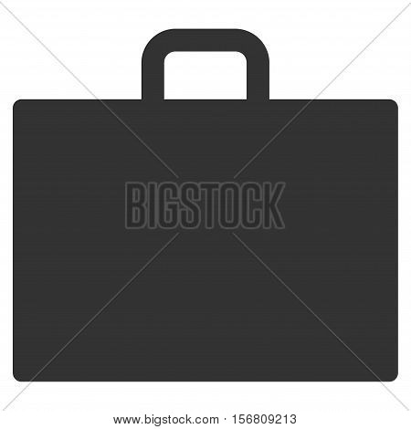Case vector icon. Flat gray symbol. Pictogram is isolated on a white background. Designed for web and software interfaces.