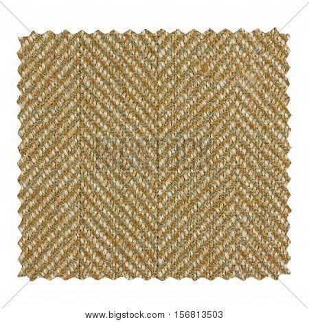 Brown Zigzag Fabric Sample