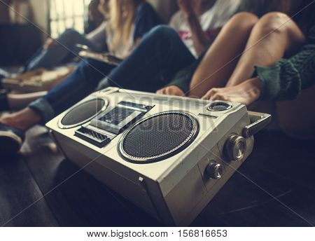 Friends Radio Boom box Sound Vintage Concept