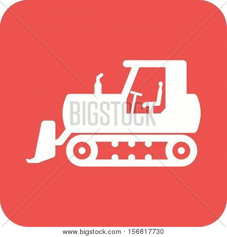 Bulldozer, excavator, digger icon vector image. Can also be used for Industrial Process. Suitable for mobile apps, web apps and print media.