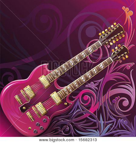 Guitarra dobro da garganta