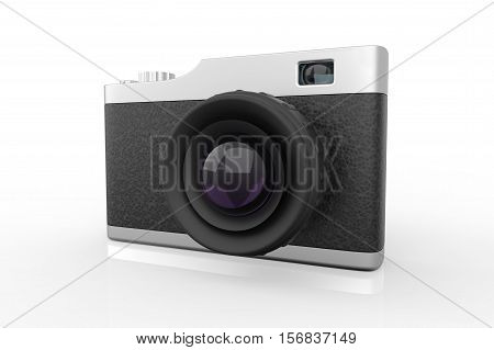 Old School Style Photo Camera 3D Render