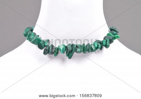 Splintered Malachite Chain On Bust