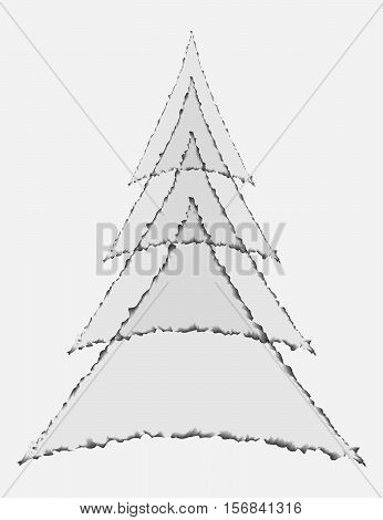 Wood Spruce Geometric stylization of triangles with ragged edges
