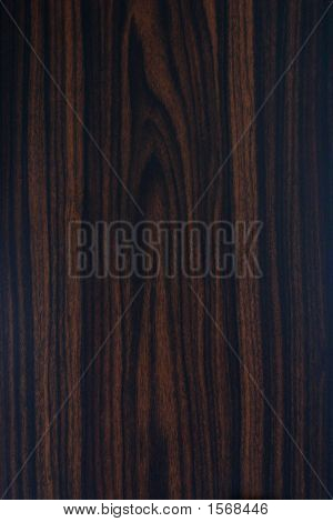 Close Up Of A Texture Of Dark Wood Grain