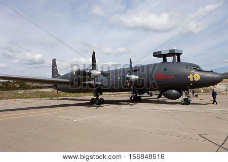 Aircraft  Ilyushin Il-38 On An Exhibition Area