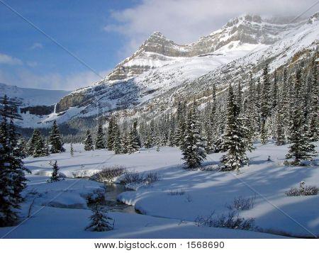 Winter At Bow Lake, Banff National Park, Canada