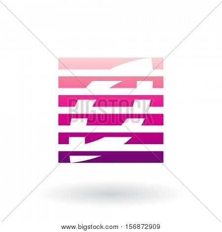 Vector Illustration of a Striped Abstract Icon isolated on a white background