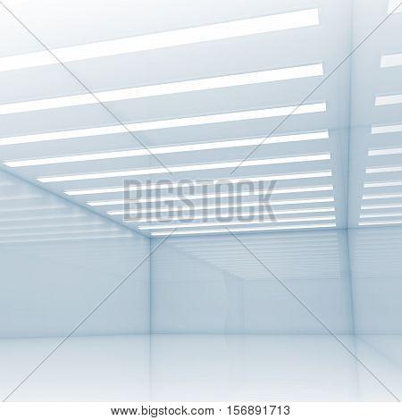 Open Space Design Template, Blue 3D