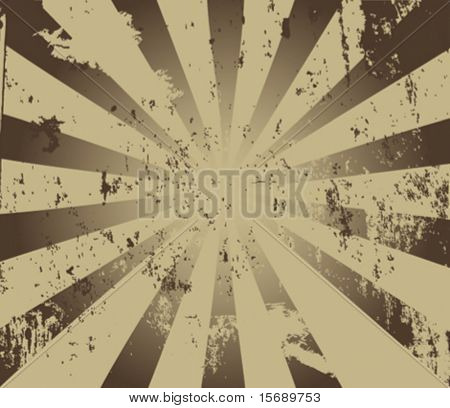 Vector image of a burst with grunge