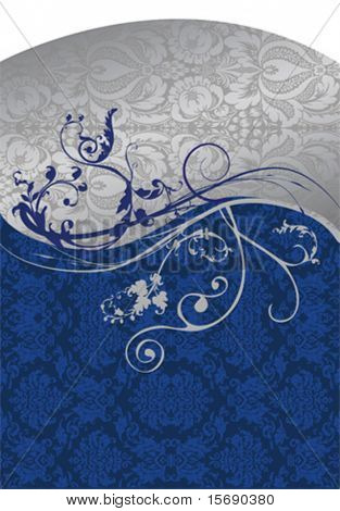 Elegant blue and siver background vector