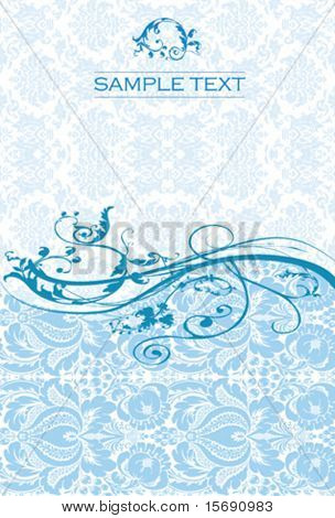 Elegant blue swirly background image