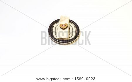 Button used in the sewing business sew it to your clothing is part of the decor and buckle