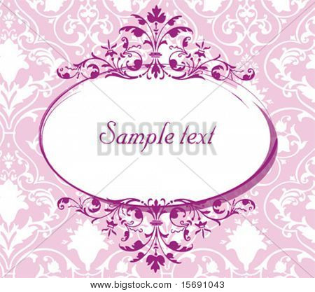 Elegant pink background image with an oval for copy