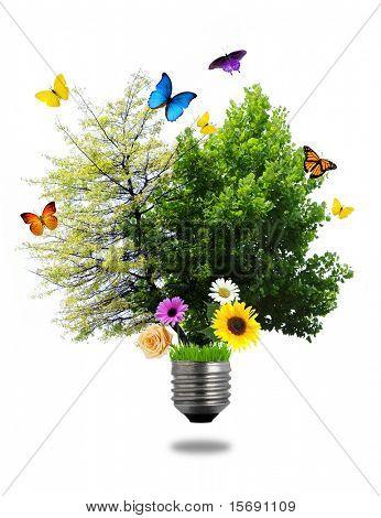 Concepto de la energía ambiental