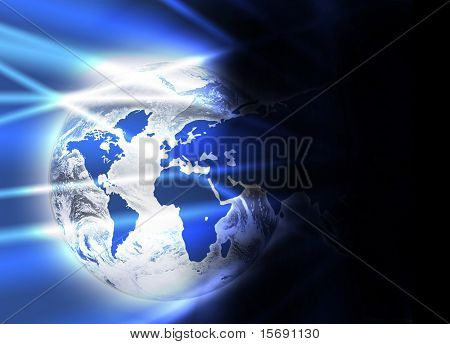 World and continent business background