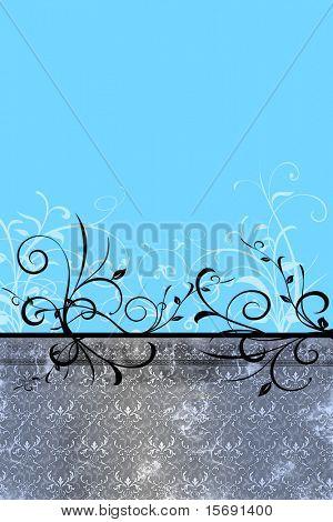 Grungey swirly background