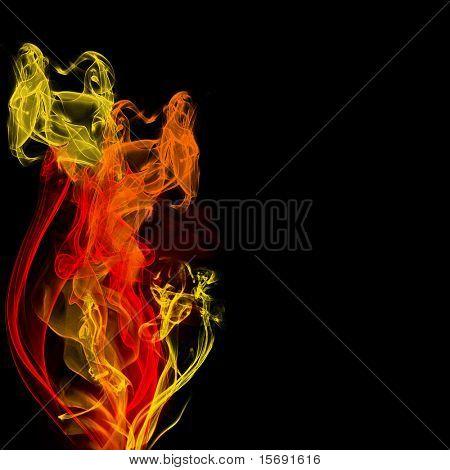 Fiery fractals