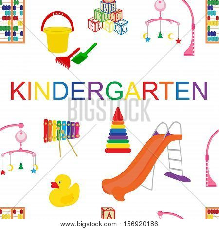 Seamless Pattern For Kindergarten