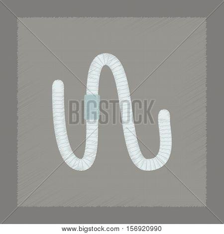 flat shading style illustration of animal worm