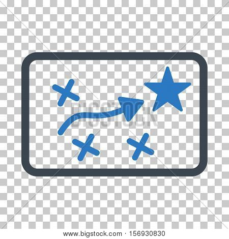 Route Plan EPS vector icon. Illustration style is flat iconic bicolor smooth blue symbol.