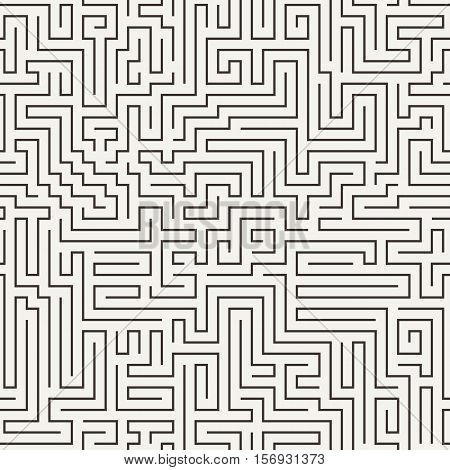 Vector seamless pattern in the form of a labyrinth or a computer motherboard