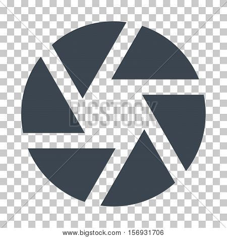 Shutter EPS vector icon. Illustration style is flat iconic smooth blue symbol.