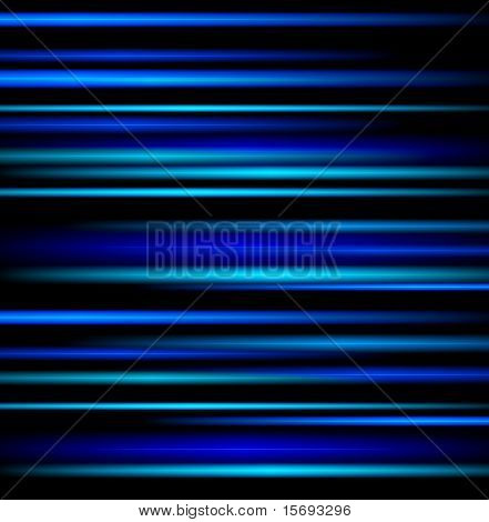 Blue light beams on black